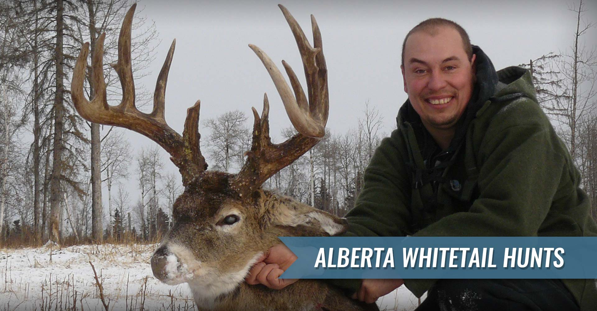 Trophy Alberta Whitetail Deer Hunts